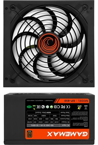Gamemax GP-650 (650W) 80 Plus Bronze Power Supply