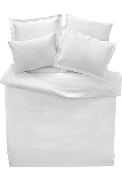 Yataş Bedding DESTRA Saten Beyaz Nevresim Takımı (Çift Kişilik)