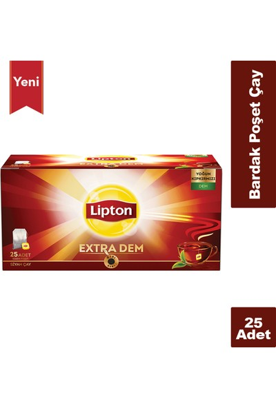 Lipton Extra Dem Çay Bardak 25'li