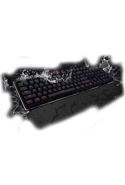 Gamepower Calypso Siyah Optik Mekanik Su Geçirmez Oyuncu Klavye Mavi Switch