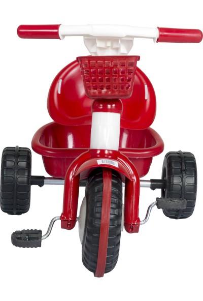 3 Tekerlekli Çift Sepetli Çocuk Bisikleti Kırmızı