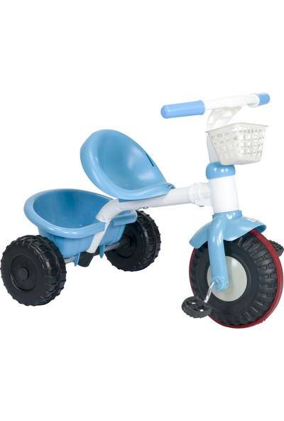 3 Tekerlekli Çift Sepetli Çocuk Bisikleti Mavi