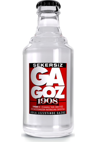 Gagoz 1908 Kola Lezzetinde Gazoz - Şekersiz- 6 X 250ml