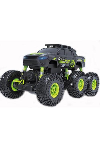 Rock Crawler Extreme 6 Tekerlekli Arazi Canavarı Şarjlı Uzaktan Kumandalı Araba 6 Amortisorlu