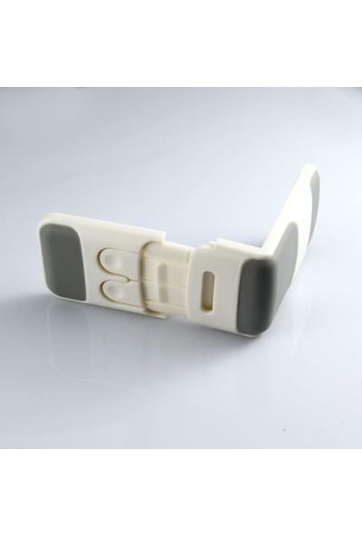 Kids Safe-T Plastik Köşe Yapan Dolap Ve Çekmece Kilidi Beyaz