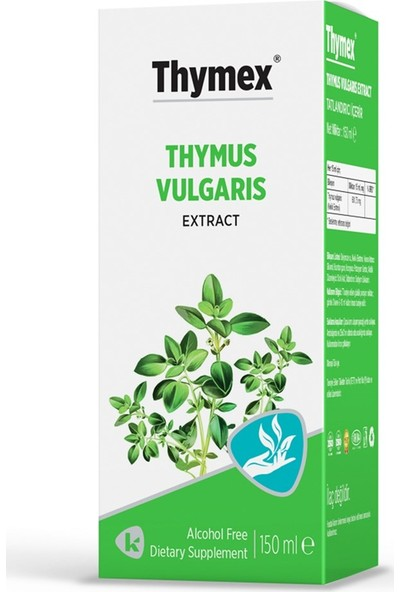 Thymex Kekik Ekstresi İçeren Bitkisel Şurup 150ml
