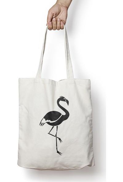 Bihayret Flamingo Bez Çanta 35x40 cm