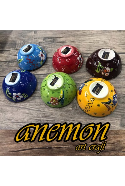Anemon Kase Seti 8 cm Çapında 6 Parça El İşçiliği