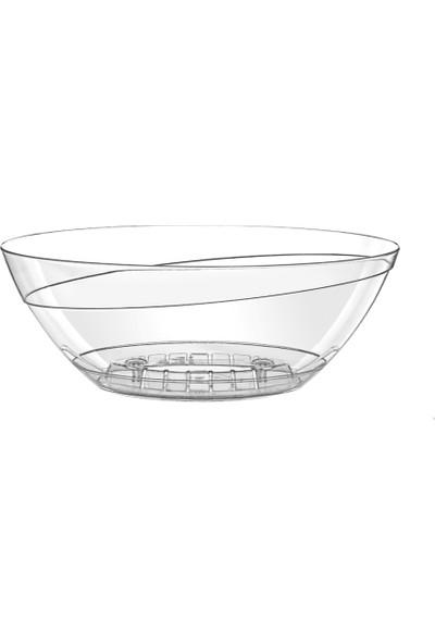Emek Dekoratif Tabaklı Oval Orki̇de Saksı 3.8 Lt