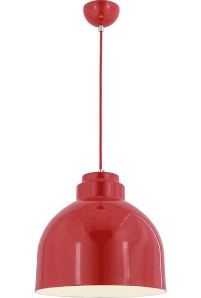 Oktay Metal Klasik Sarkıt Kırmızı Metal 1Xe27