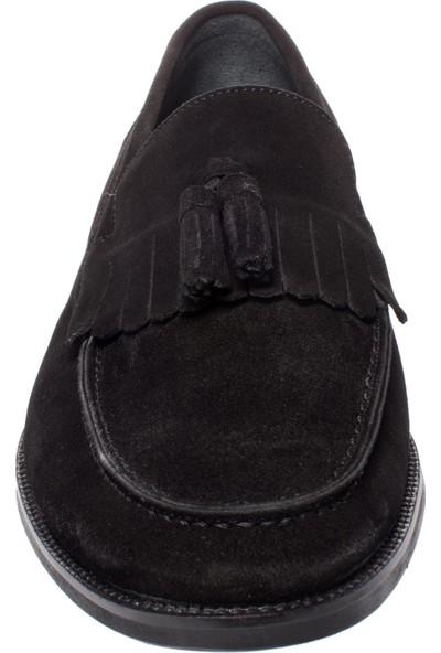 Castle Black 6590 Leofer Corcik Siyah Erkek Ayakkabı
