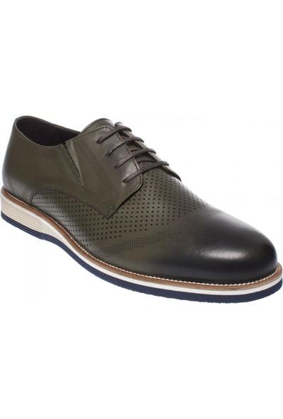 F.marcetti 422 Günlük Klasik Yeşil Erkek Ayakkabı