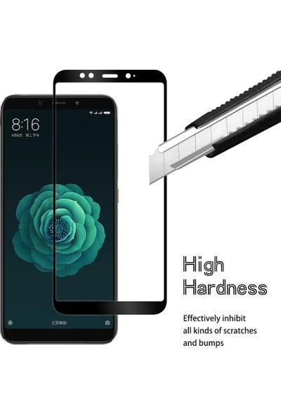 Engo Xiaomi Mi A2 Lite Kavisli Tam Kaplama 5D Full Cover Ekran Koruyucu Cam