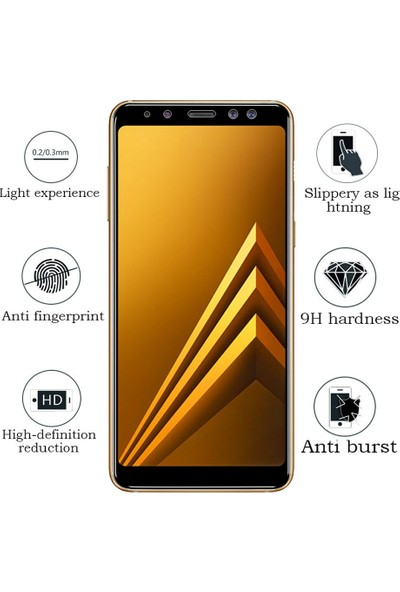 Engo Samsung Galaxy A8 2018 (SM-A530F) 5D Cam Yeni Nesil Özel Tam Kaplama Ekran Koruyucu