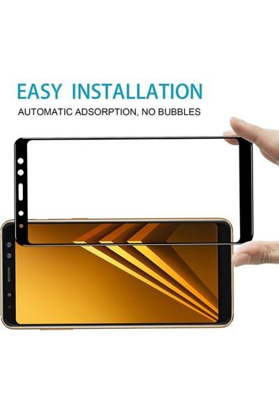 Engo Samsung Galaxy A8 Plus 2018 (SM-A730F) 5D Cam Yeni Nesil Tam Kaplama Ekran Koruyucu