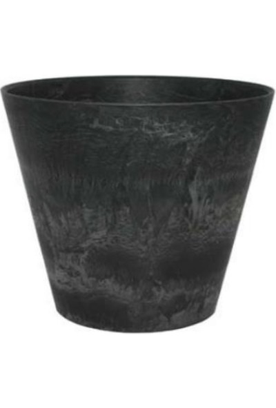 Artstone Claire Pot 33x29 cm Siyah