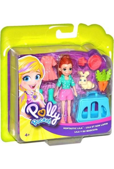 Polly Pocket ve Hayvan Dostu Oyun Seti, Hoptastic Lila Bebek, Hayvanı ve Aksesuarları GDM11