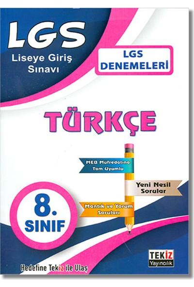 Tekiz 8. Sınıf LGS Türkçe Denemeleri