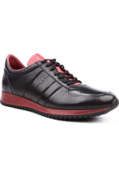 Dgn 1871 Erkek Sneakers Ayakkabı Siyah Bordo
