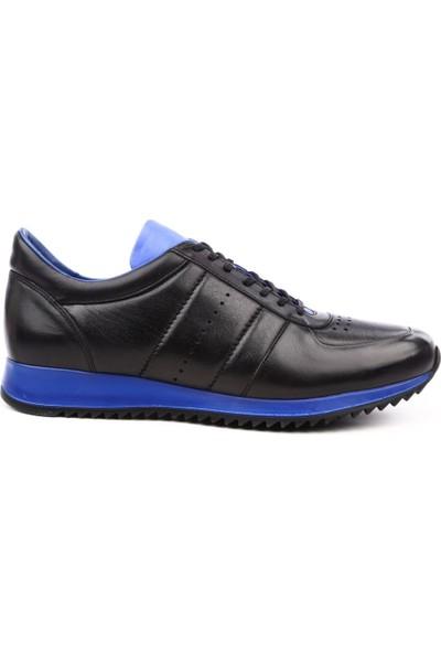 Dgn 1871 Erkek Sneakers Ayakkabı Siyah Mavi