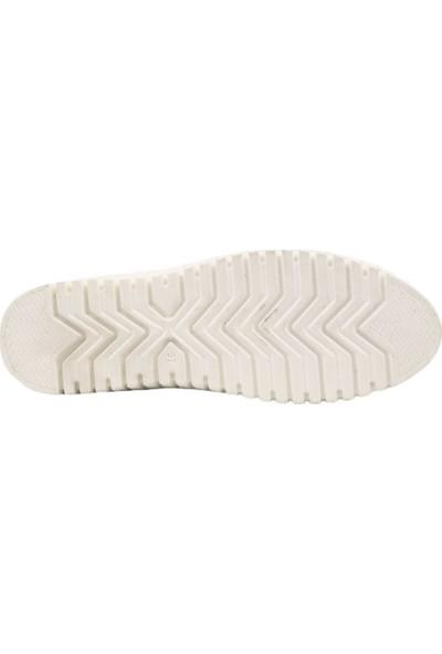 Espy 204 Kadın Spor Lastik Bağlı Saraçlı Ayakkabı Beyaz