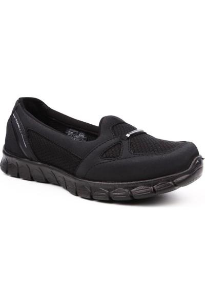 Forelli 61028-G Kadın Feather Lıght Spor Ayakkabı Siyah