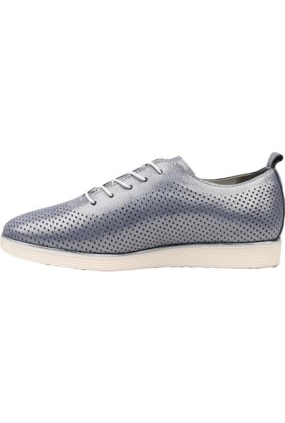 Dgn 6337 Kadın Eva Taban Spor Bağlı Casual Ayakkabı Mavi Kristal
