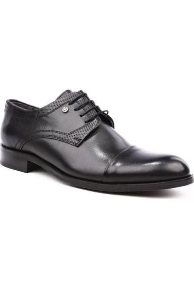 Dgn 9424 Erkek Kösele Taban Bağcıklı Jurdan Ayakkabı Siyah Antik