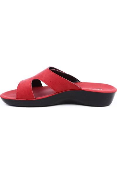 Ceyo Parma-5 Kadın Terlik Kırmızı