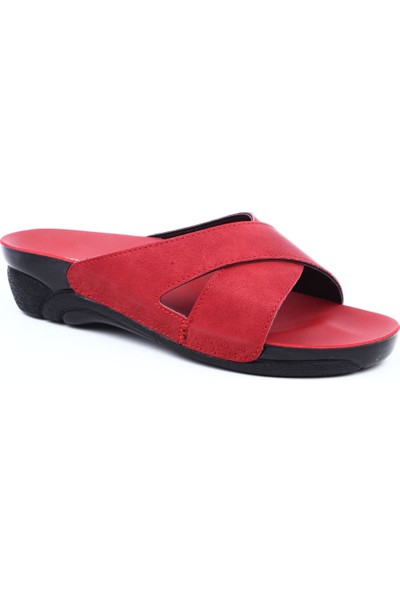 Ceyo Venedık-9 Kadın Terlik Kırmızı