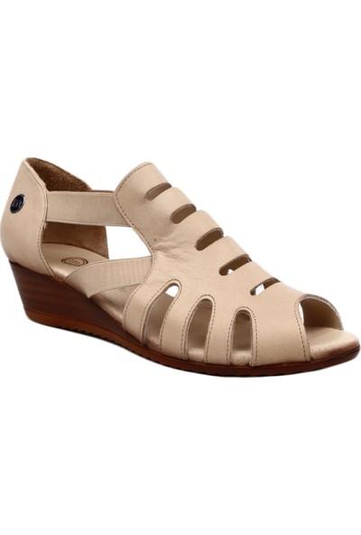 Mammamia D19Ys-1650 Kadın Sandalet Ayakkabı Bej Faber