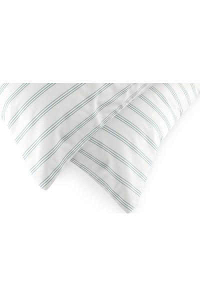 English Home Summer Stripe Pamuklu 2'Li Yastık Kılıfı 50X70 Cm Seledon