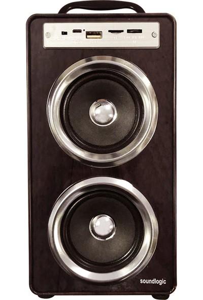 Soundlogic Çok Fonksiyonlu Bluetooth Büyük Renkli Hoparlör-Mp3
