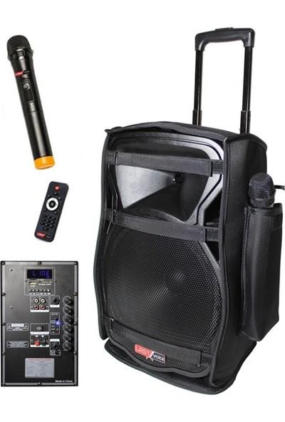 Lastvoice Ls-1912Cs Caseli Taşınabilir Hoparlör Ses Sistemi 200W