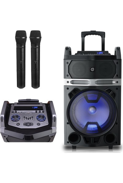 Oyility Nb-121 Karaoke Mikrofonlu Taşınabilir Portatif Ses Sistemi 400 Watt