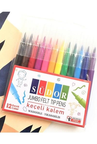 Südor 12 Renk Jumbo Keçeli Boya Kalemi