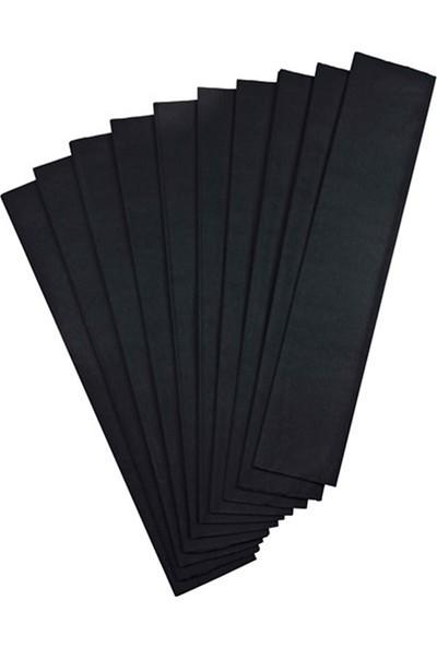 Gıpta Krapon Kağıdı 50 Cm X 200 Cm Siyah Tekli