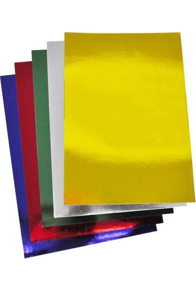 Rubenis A4 Aynalı Metalik Karton 5 Renk 10 Adet