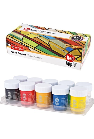 Red Apple Cam Boyası 10 Renk 10X25 Ml. Rc103-10