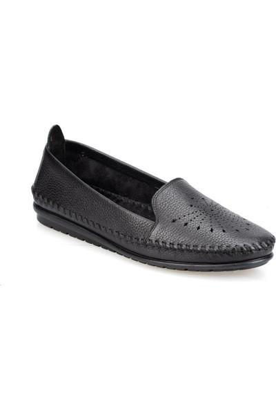 Polaris 91.100773.Z Siyah Kadın Deri Ayakkabı