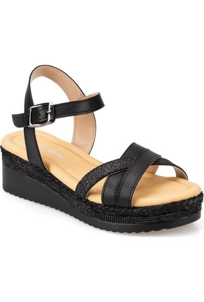 Polaris 91.313266.Z Siyah Kadın Sandalet