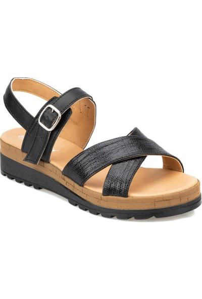 Polaris 91.313526.Z Siyah Kadın Sandalet