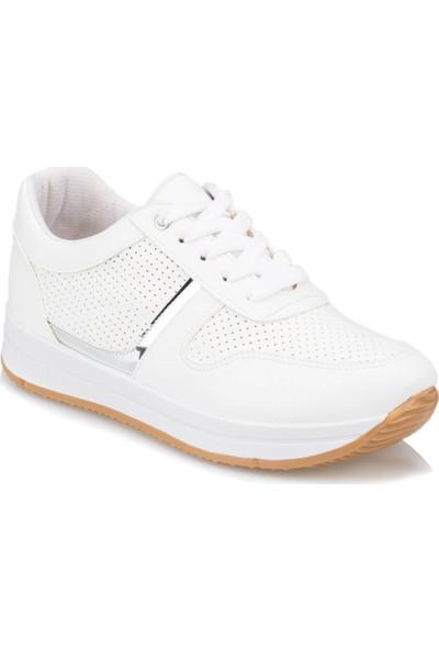 Polaris 91.313370.Z Beyaz Kadın Spor Ayakkabı