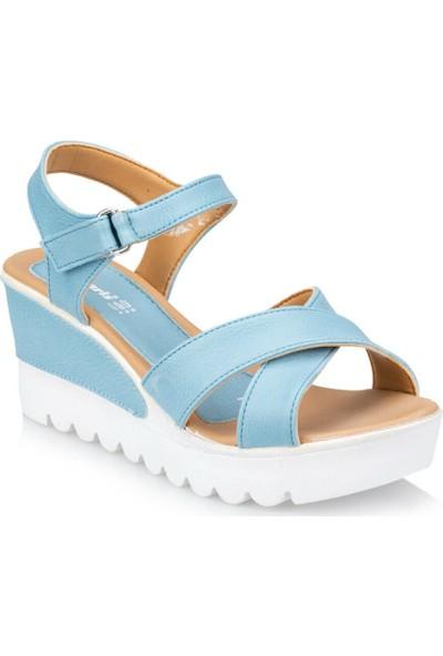 Polaris 91.308569.Z Mavi Kadın Sandalet