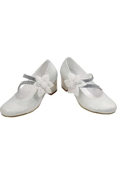 Kaptan Junior Kız Çocuk Topuklu Abiye Ayakkabı