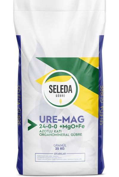 Seleda Ure-Mag 24-0-0 + Mgo + Fe Azotlu Organomineral Granül Gübre