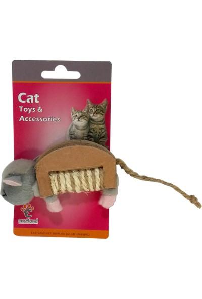 Eastland Hışırtlı Peluş Kedi Oyuncak Fare 6 * 10 cm