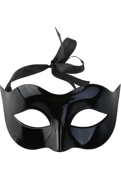 Samur Siyah Maskeli Balo Venedik Maskesi