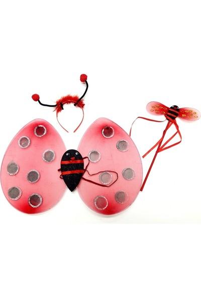 Samur Uğur Böceği Kanadı Tacı Asası Kostüm Seti
