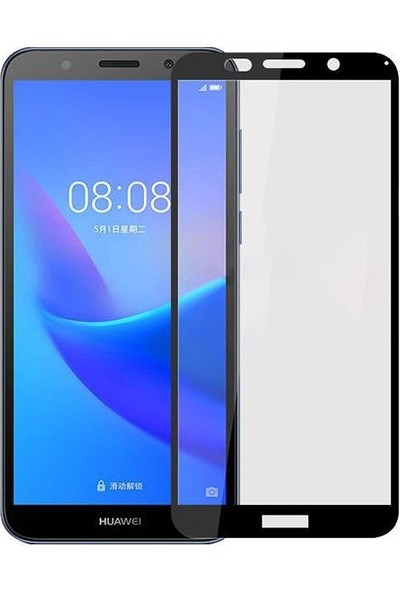 Morcep Huawei Y5 2018 5D Glass Ekran Koruyucu Cam